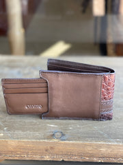 Cuadra Porto Maple Caiman Leather Wallet