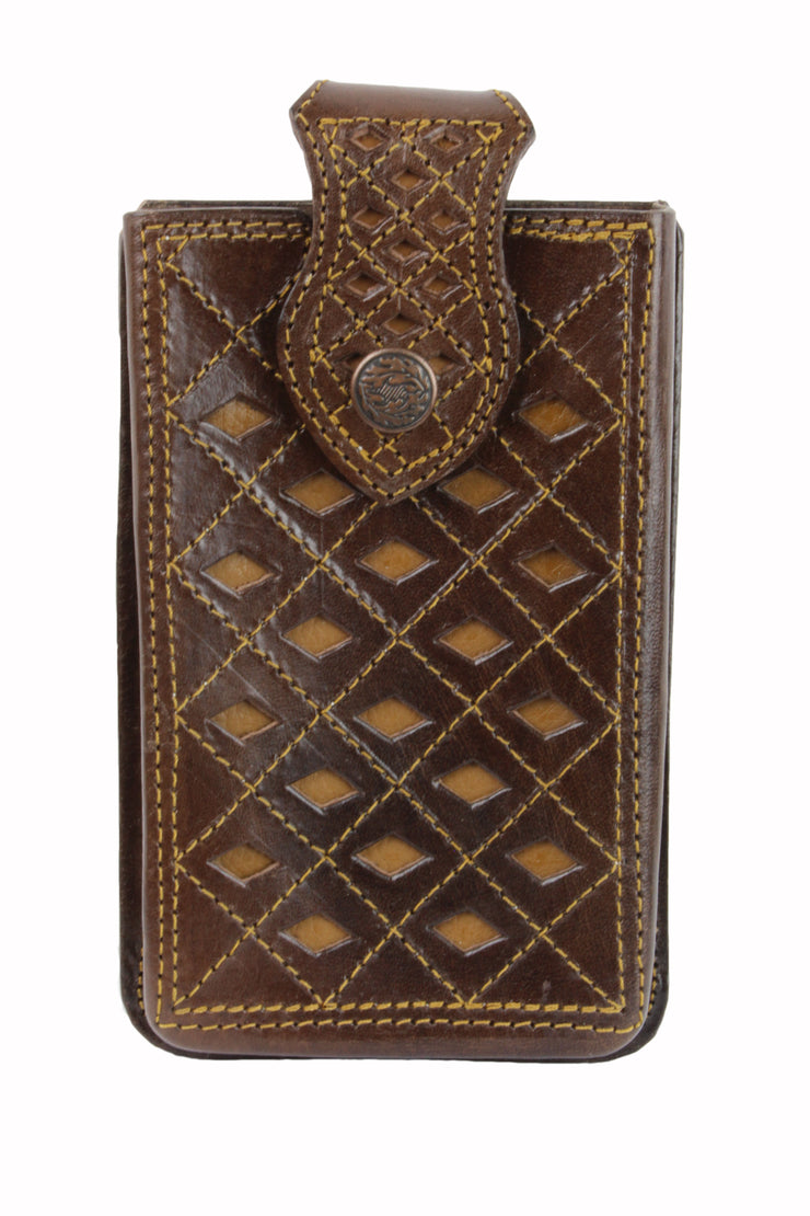 Leather Tooled Cell Phone Case