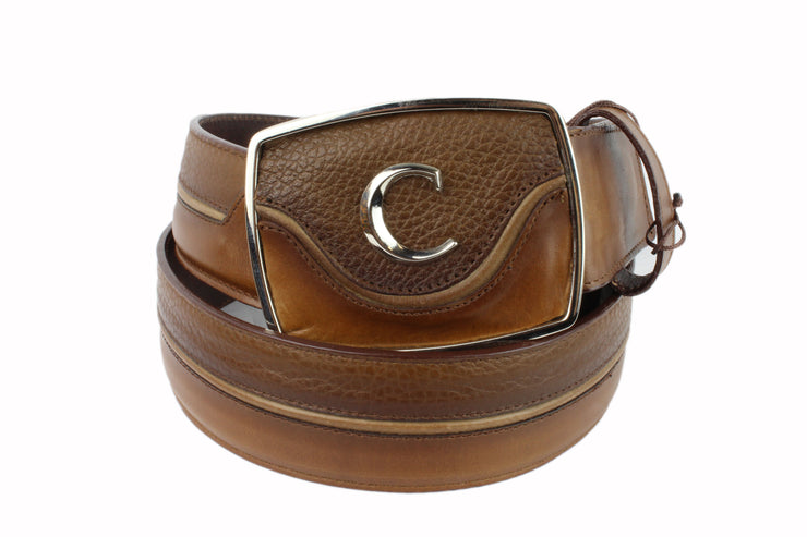 Cuadra Honey Modern Leather Belt