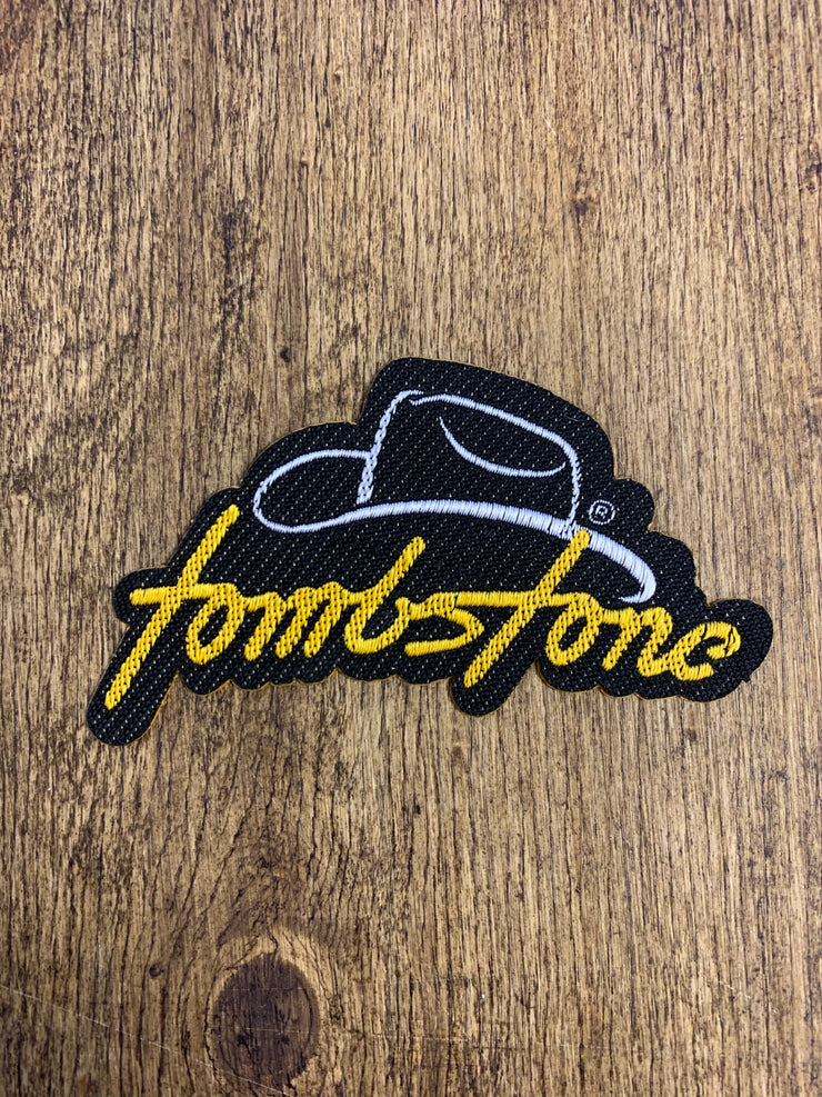 Tombstone Black / Yellow Patch (Peel & Stick Patch)