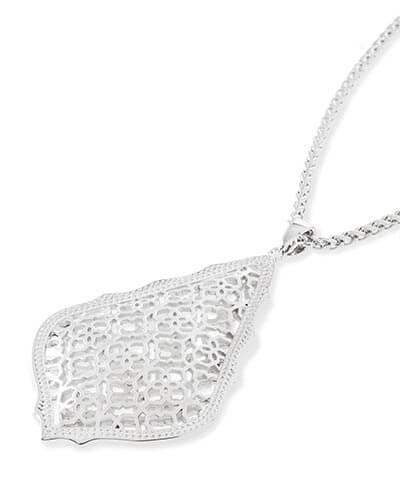 Kendra Scott Aiden Silver Long Pendant Necklace - Gabrielle's Biloxi