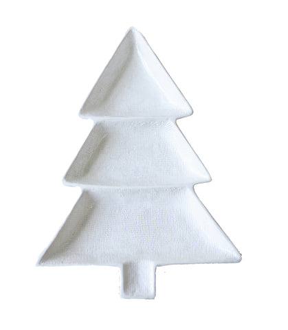 Christmas Tree Divided Dish White - Gabrielle's Biloxi