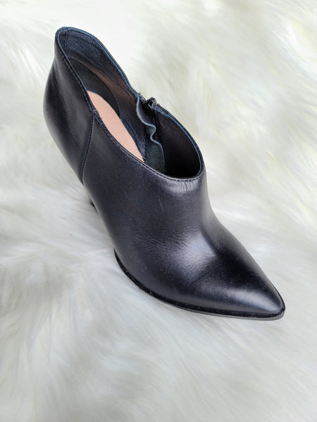 Black Point-Toe Marble Bootie - Gabrielle's Biloxi