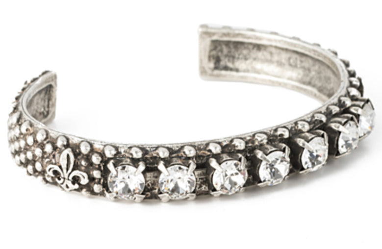 French Kande Silver Swarovski Bangle - Gabrielle's Biloxi