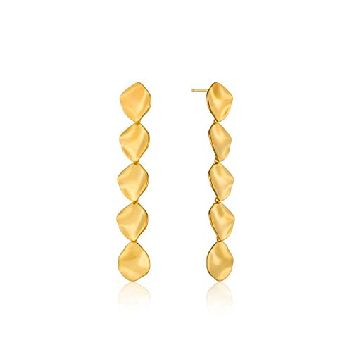Gold Crush Multi Disc Drop Earrings - Gabrielle's Biloxi