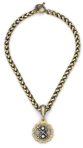 French Kande Cheval Chain With X Medallion - Gabrielle's Biloxi