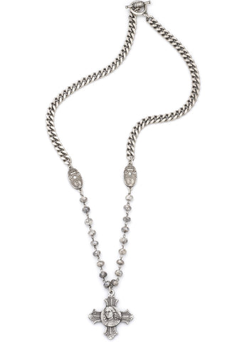 French Kande Bevel Chain And La Treille Medallion - Gabrielle's Biloxi