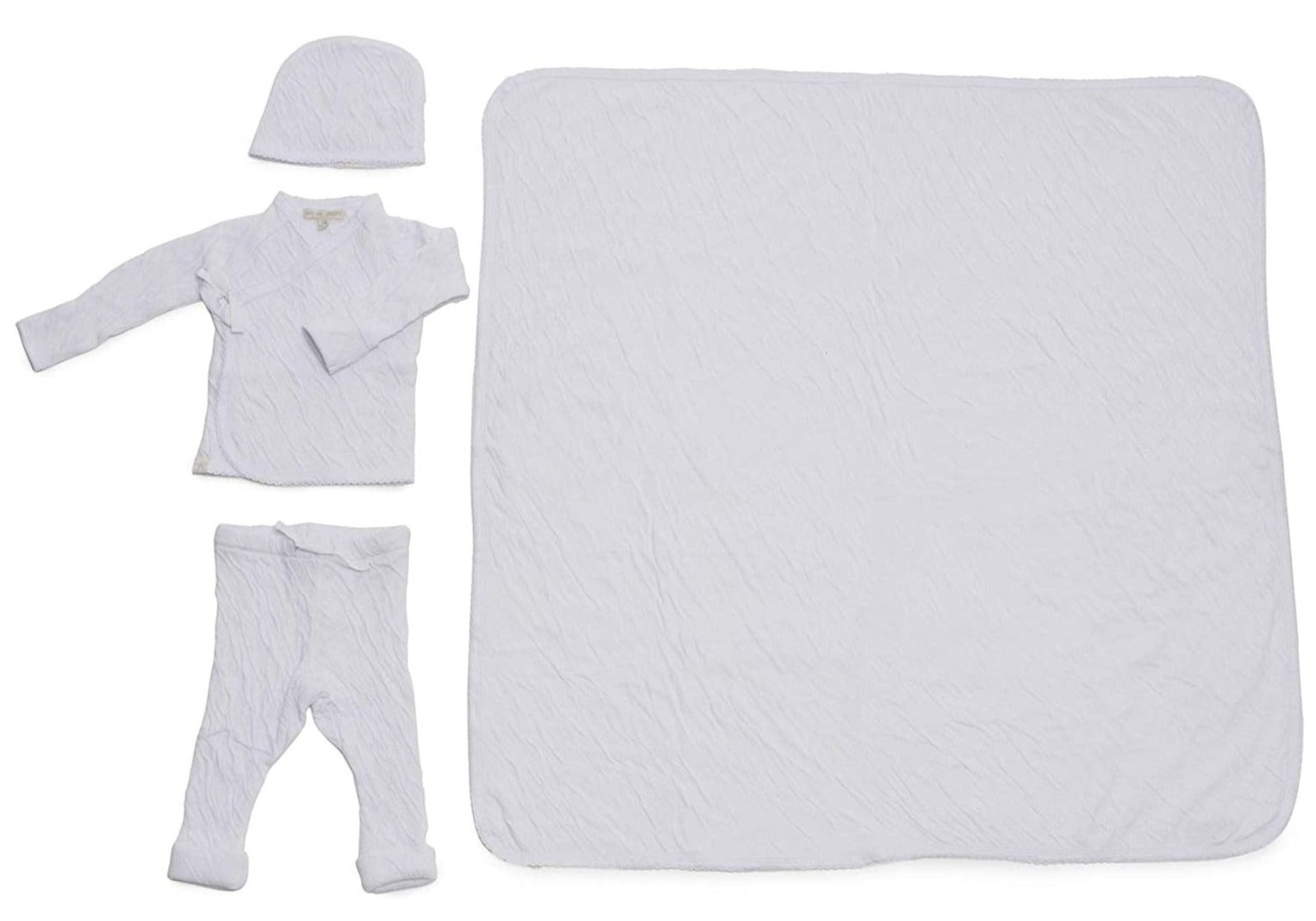 Barefoot Dreams Bundle Infant 4 Piece Set White - Gabrielle's Biloxi
