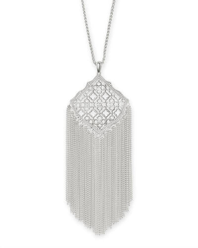 Kendra Scott Kingston Silver Long Pendant Necklace - Gabrielle's Biloxi