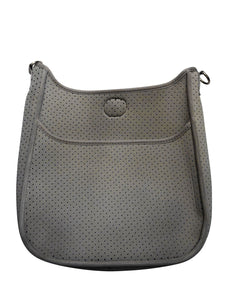 Perforated Neoprene Messenger Grey - No Strap Included - Gabrielle's Biloxi