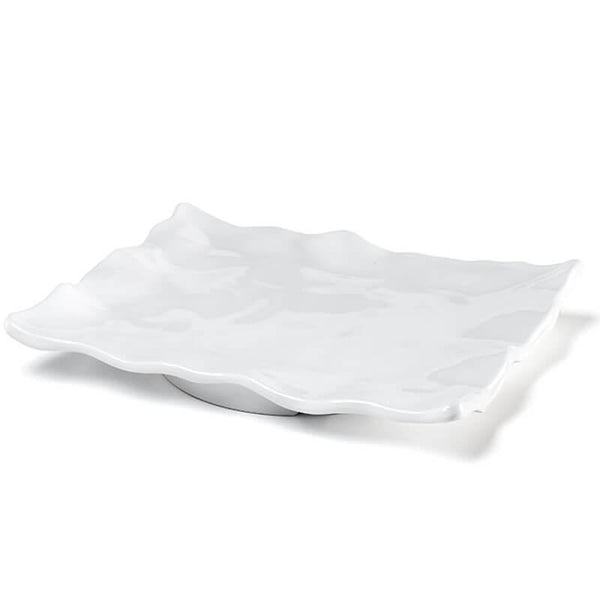 Ruffle White Melamine Rectangle Platter - Gabrielle's Biloxi