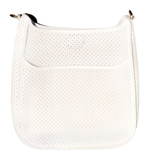 Perforated Neoprene Messenger White - No Strap Included - Gabrielle's Biloxi