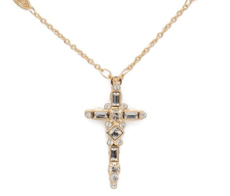 Sorrelli Delicate Cross Pendant Necklace - Gabrielle's Biloxi