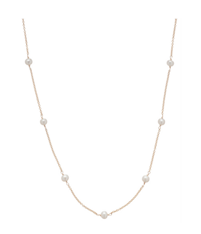 ENewton Simplicity Gold 4mm Pearl Necklace - Gabrielle's Biloxi