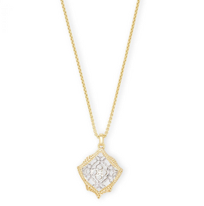 Kendra Scott Kacey Necklace Gold & Rhodium - Gabrielle's Biloxi