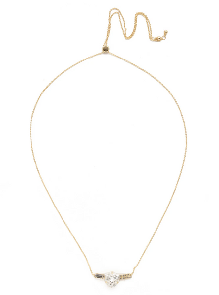 Sorrelli Crystal Contoured Pendant Necklace