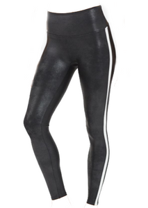 Spanx Faux Leather Side Stripe Leggings