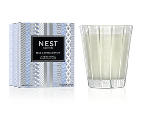 Nest Blue Cypress & Snow Candle