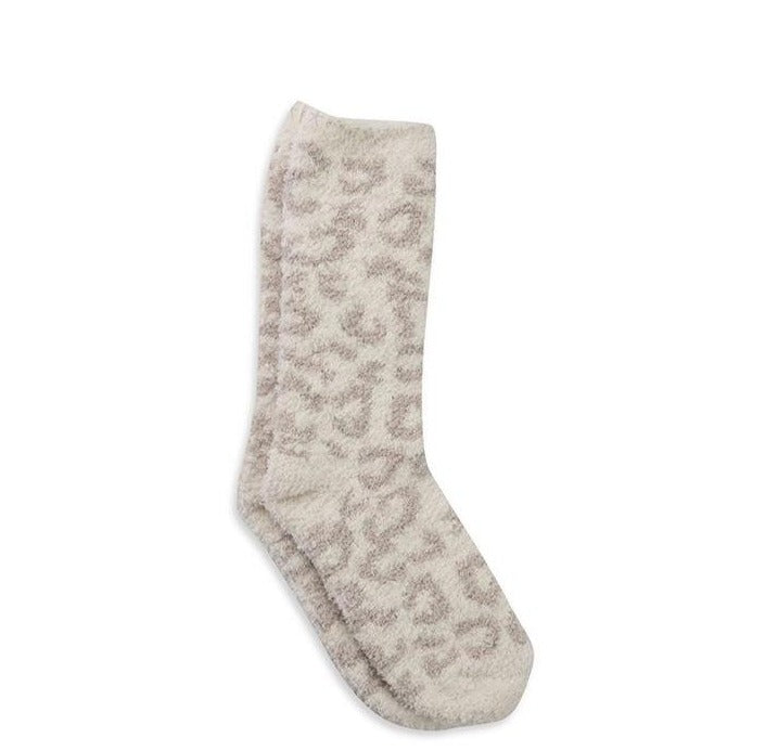 Barefoot Dreams CozyChic Women's Barefoot in the Wild Sock Cream Stone
