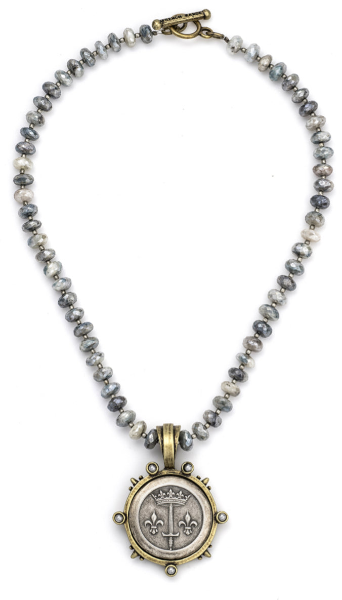 French Kande Silverite And Heishi Necklace - Gabrielle's Biloxi