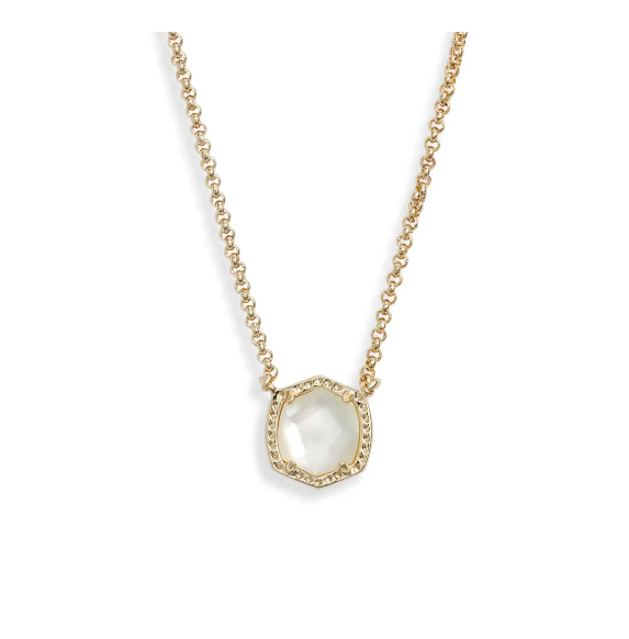 Kendra Scott Davie Pendant Necklace Gold Ivory Mop - Gabrielle's Biloxi