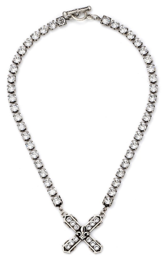 French Kande Swarovski Necklace With French Kiss Pendant - Gabrielle's Biloxi