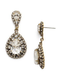 Sorrelli Oval Encrusted Crystal Statement Earring - Gabrielle's Biloxi