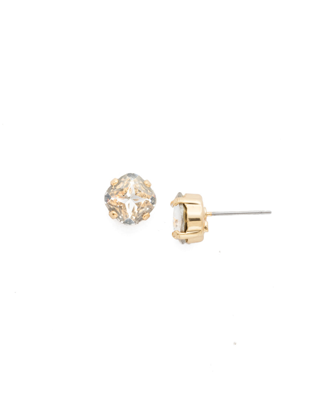 Sorrelli One and Only Earring Bright Gold Crystal Clear - Gabrielle's Biloxi