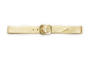 Gold Embossed Leather JJ Winters Belt - Gabrielle's Biloxi
