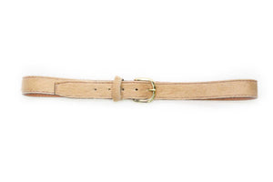Tan Cowhide Belt - Gabrielle's Biloxi
