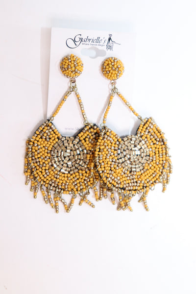 Bold Beaded Earrings - Gabrielle's Biloxi
