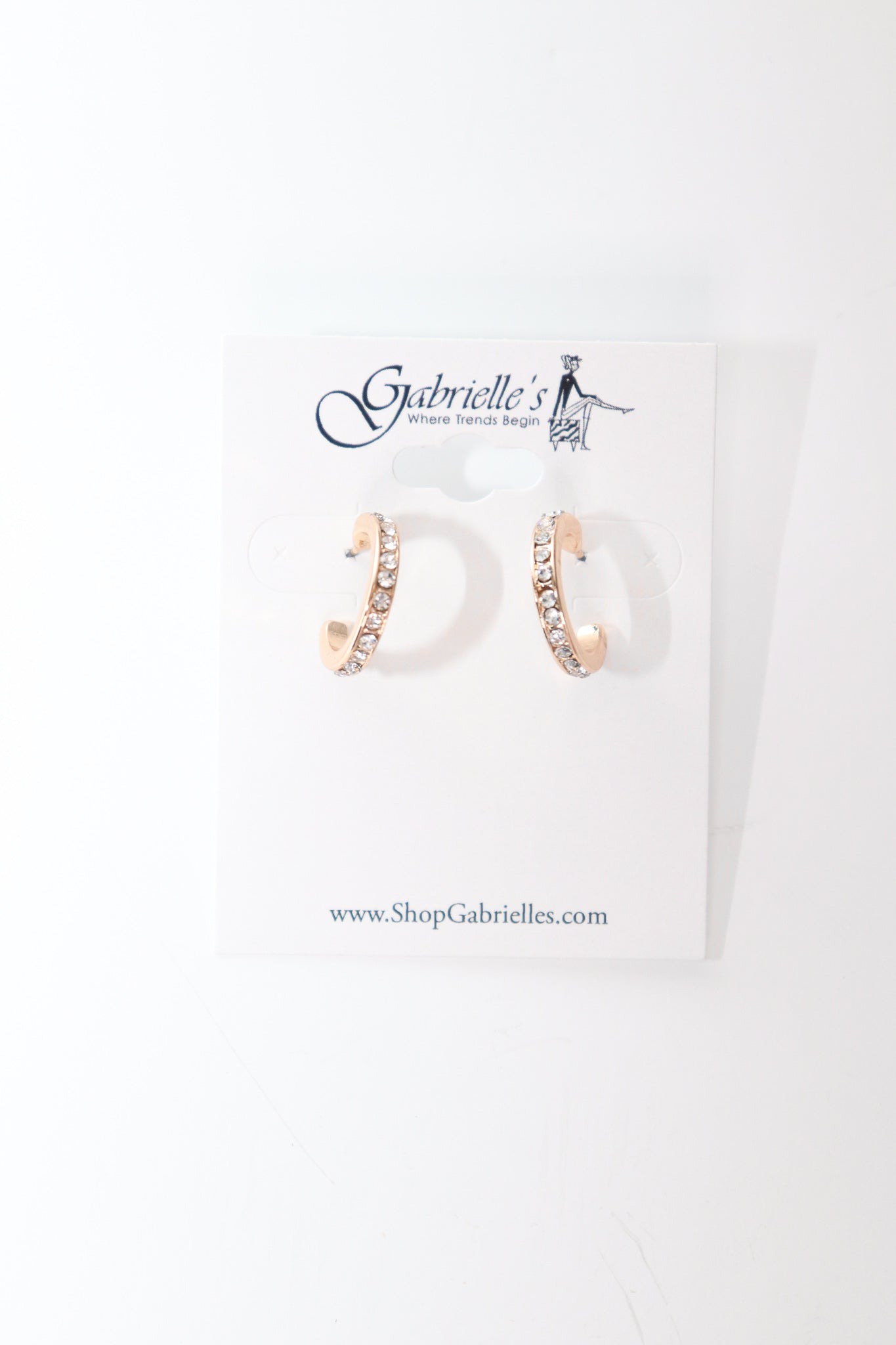 Small Studded Hoops - Gabrielle's Biloxi