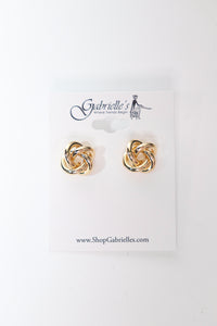 Classic Gold Knot Stud Earrings - Gabrielle's Biloxi