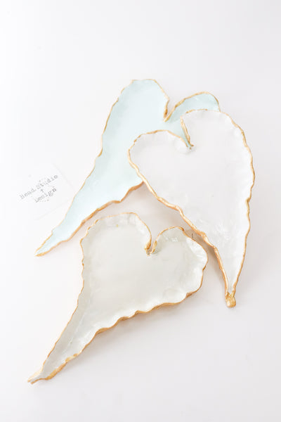 White Clay Heart-Shaped Tray - Gabrielle's Biloxi