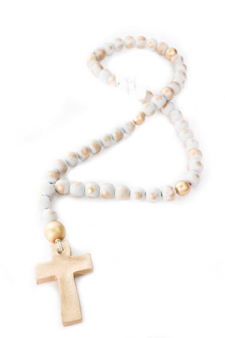 Rosary Blessing Beads - White - Gabrielle's Biloxi