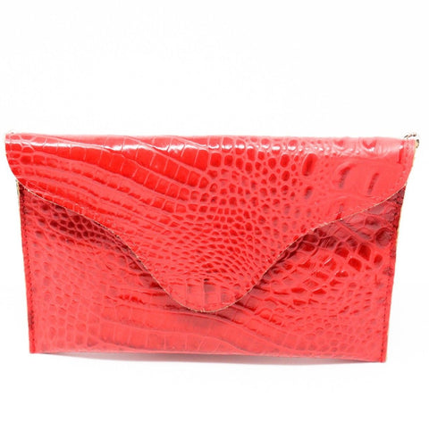 JJ Winters Red Croco Miley Crossbody - Gabrielle's Biloxi