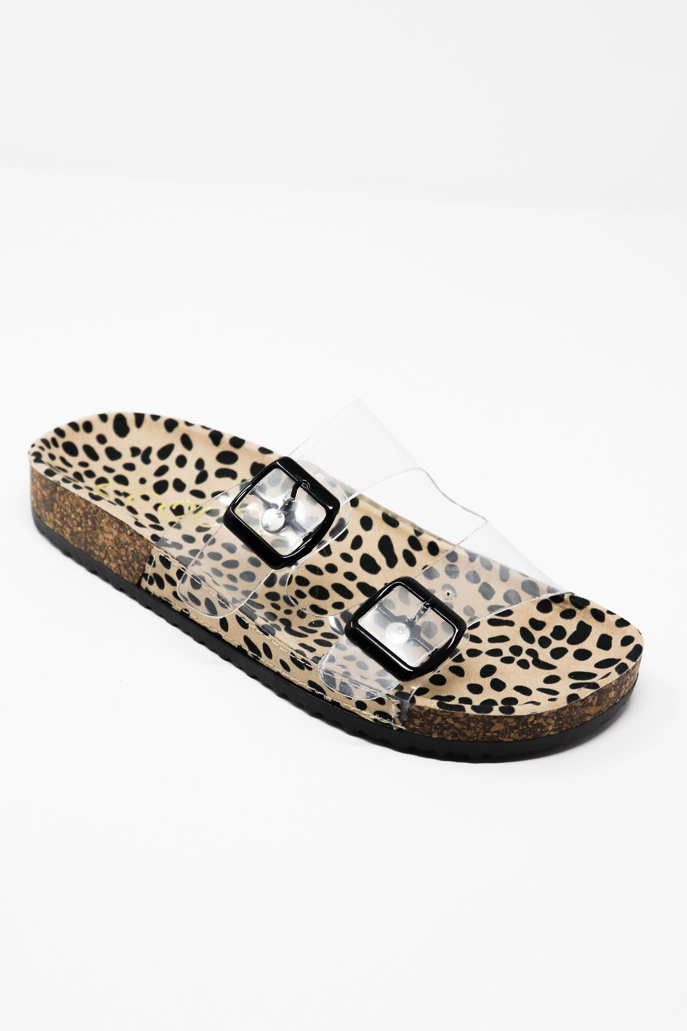 Cheetah Clear Strap Slip-On Sandals - Gabrielle's Biloxi