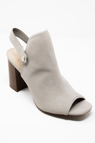 Grey Suede Sling Back Bootie - Gabrielle's Biloxi