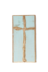 Blue Cross Wood Block - Gabrielle's Biloxi