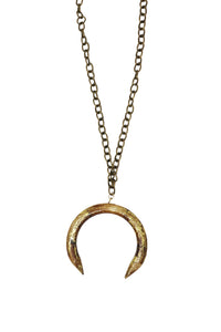 Love, Poppy Wood Crescent Necklace - Gabrielle's Biloxi