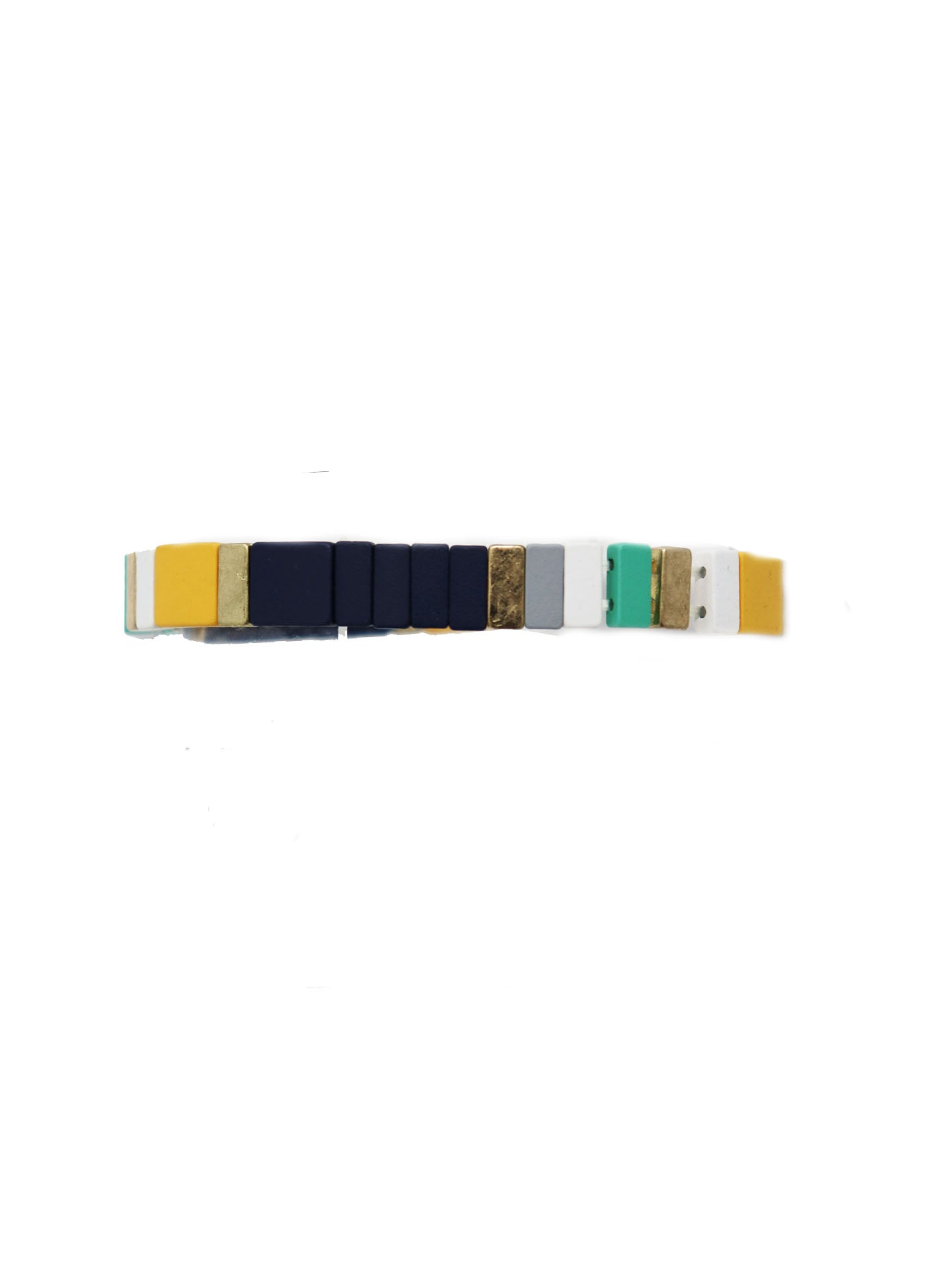 Navy Colorful Stretchy Bracelet - Gabrielle's Biloxi