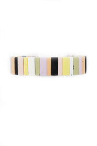 Pastel Rectangle Stretchy Bracelet - Gabrielle's Biloxi