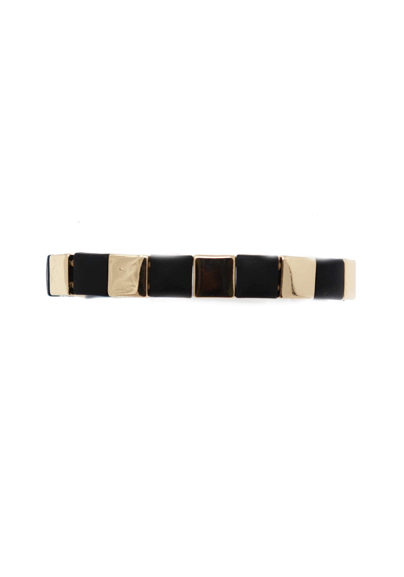 Black and Gold Stretchy Bracelet - Gabrielle's Biloxi