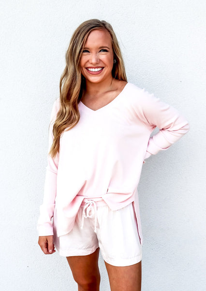 PJ Harlow Frankie Top in Blush - Gabrielle's Biloxi