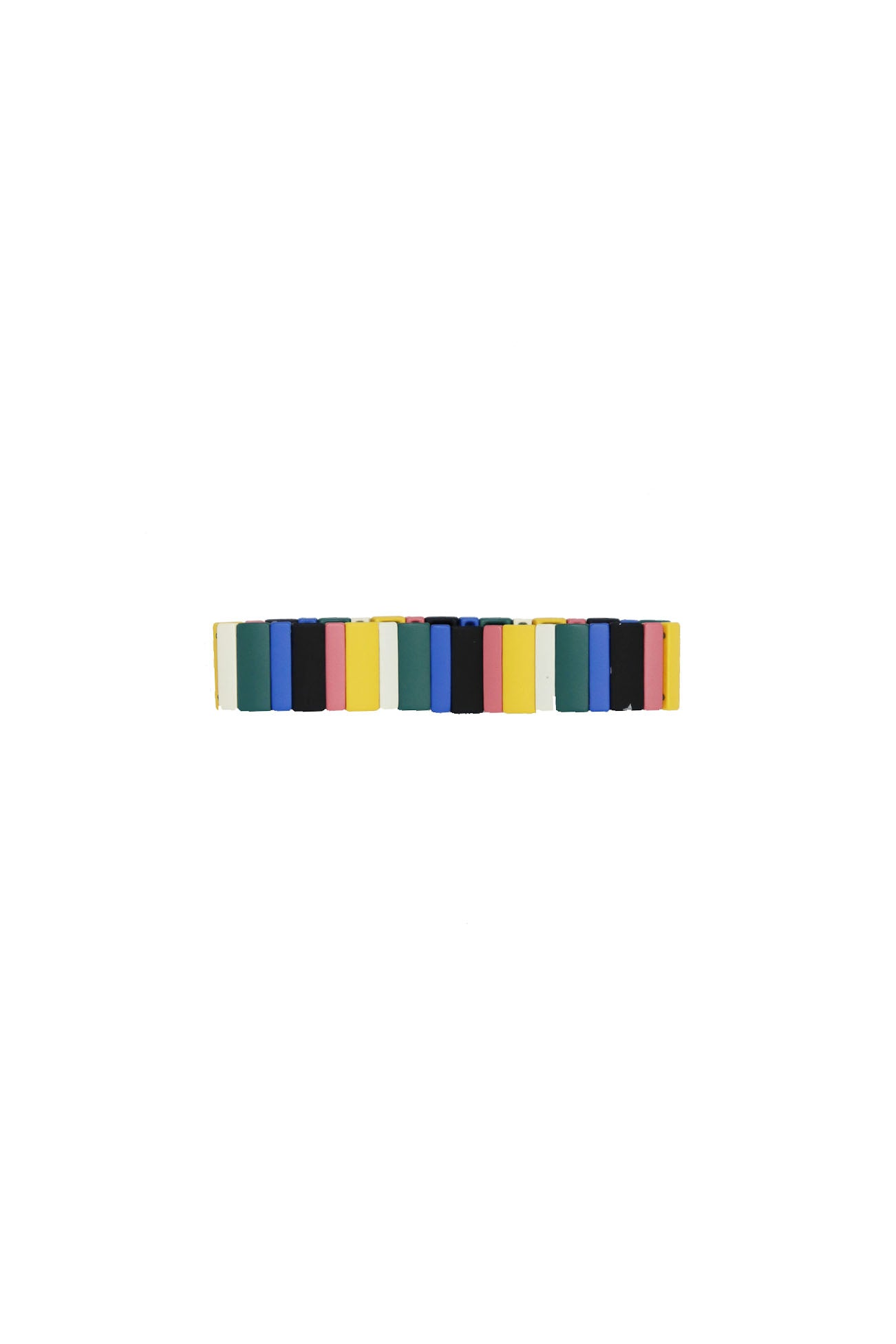 Colorful Rectangle Stretchy Bracelet - Gabrielle's Biloxi