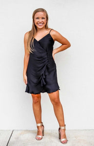 Faux Wrap Ruffled Mini Dress - Gabrielle's Biloxi