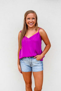 Sleeveless V-Neck Viola Piped Cami - Gabrielle's Biloxi