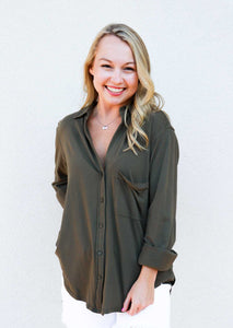 Bobi Knit Button-Up Shirt - Gabrielle's Biloxi