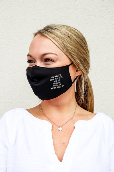 PJ Harlow Women's Face Mask - No Matter How You Feel Quote - Gabrielle's Biloxi