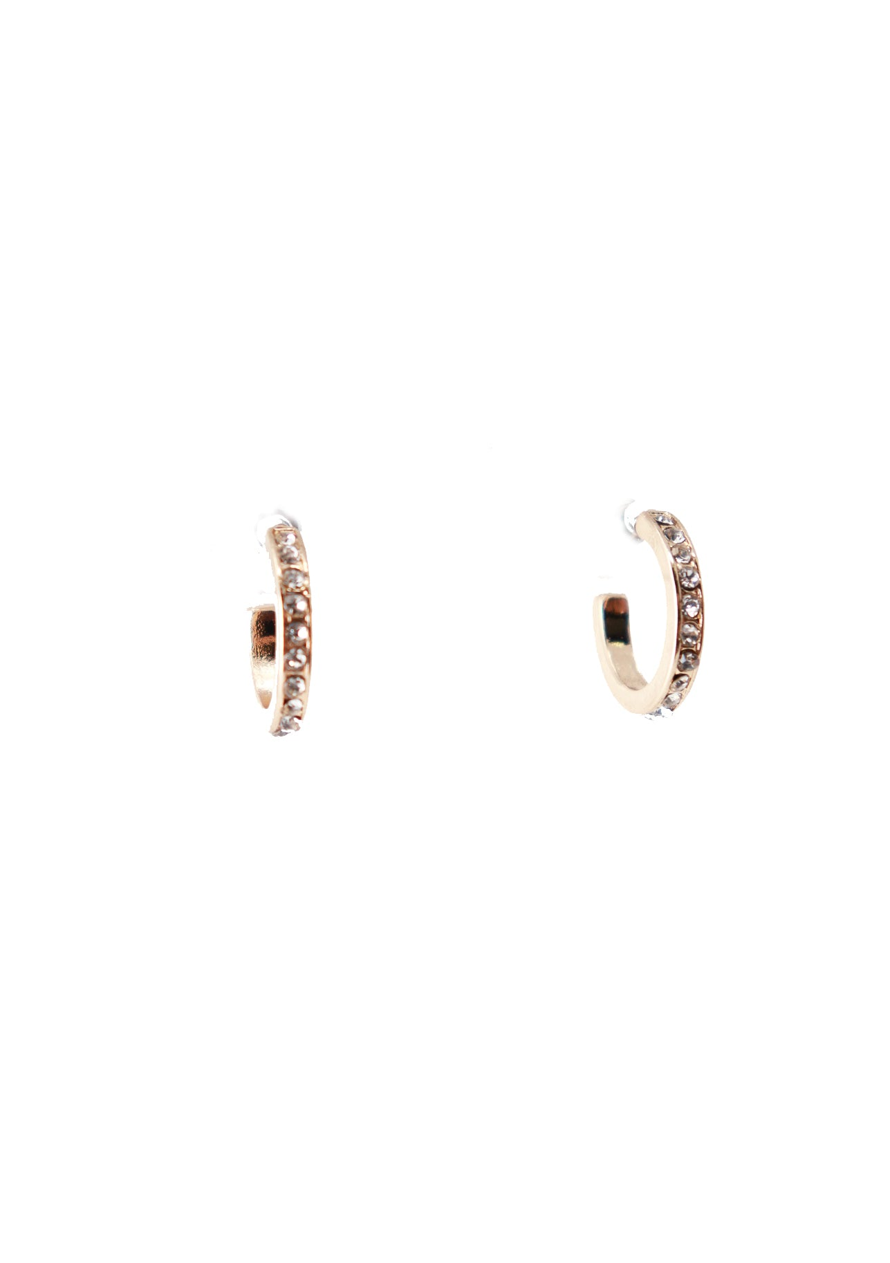 Huggie Hoop Crystal Earrings - Gabrielle's Biloxi